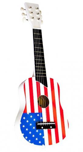 Speelgoed gitaar met Amerikaanse vlag