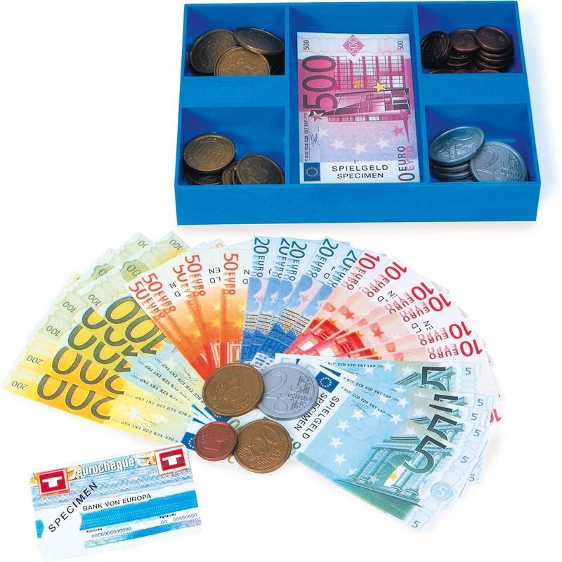 Speelgoed kassa casette met geld