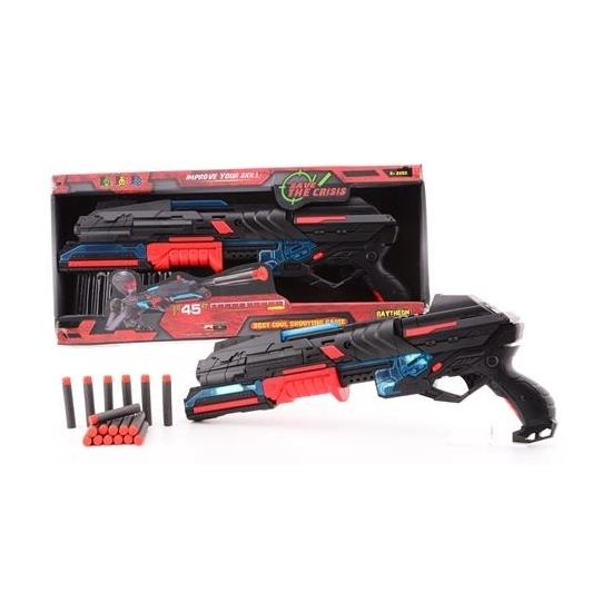 Speelgoed pistool rood zwart 50 cm