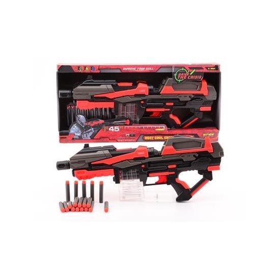 Speelgoed pistool rood zwart 54 cm