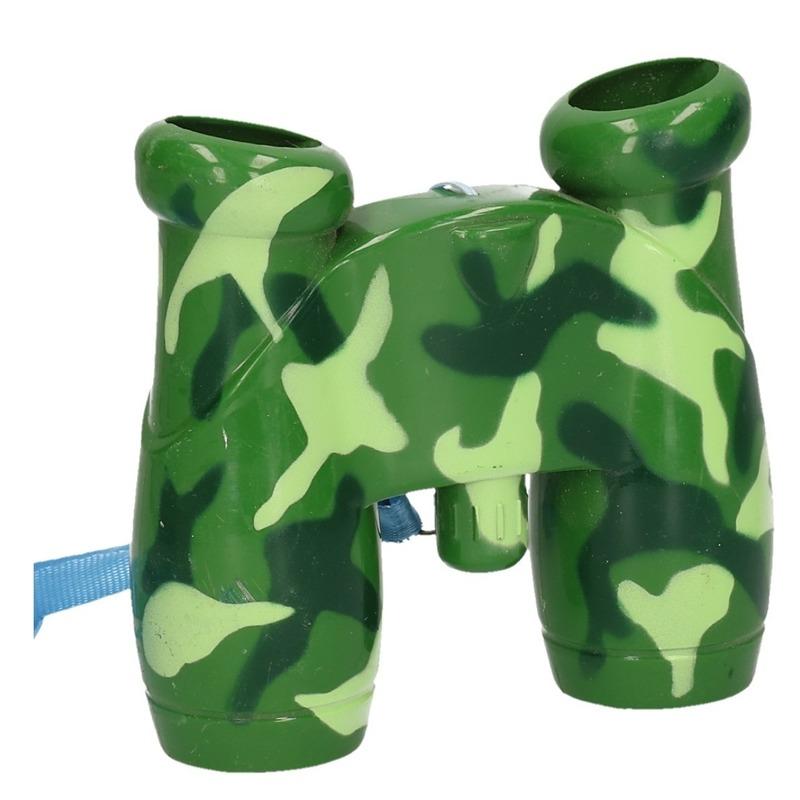 Speelgoed verrekijker voor kinderen groen/zwart