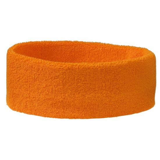 Sportdag hoofd zweetbandje oranje