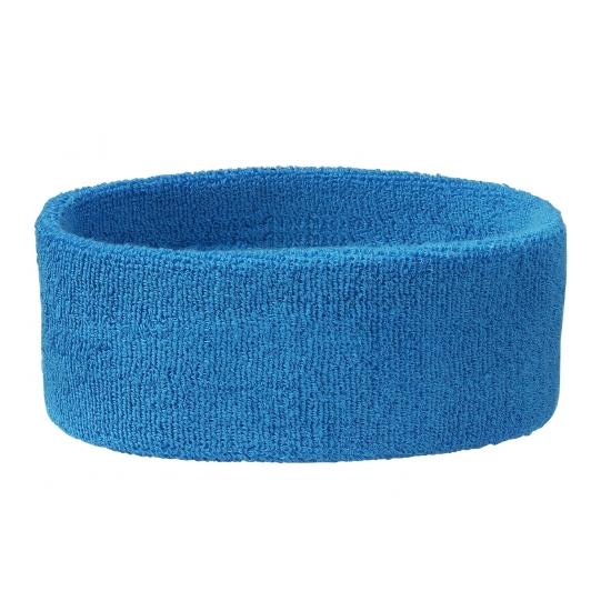 Sportdag hoofd zweetbandjes aqua blauw