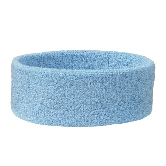 Sportdag hoofd zweetbandjes lichtblauw