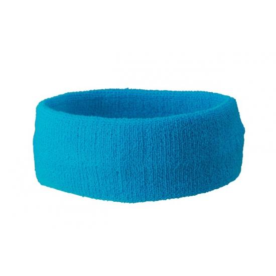 Sportdag hoofd zweetbandjes turquoise