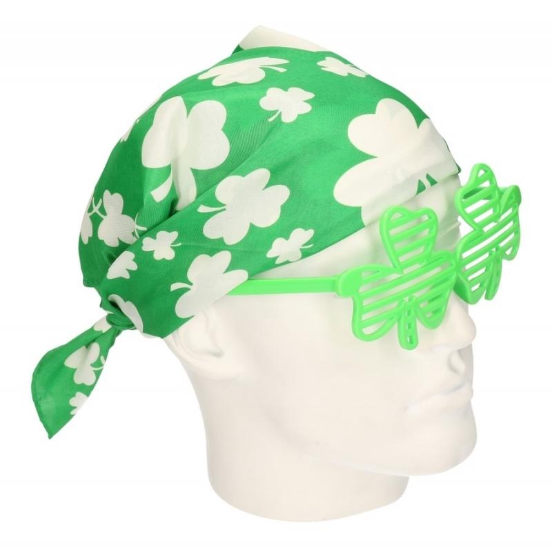 Fun en Feest brillen Carnavalskostuum winkel St Patricks Day bandana Klavertje drie