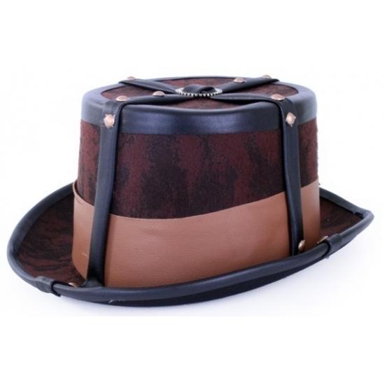 Steampunk hoed bruin Geen Feest hoeden