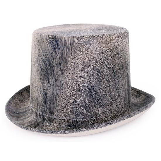 Feest hoeden Geen Steampunk hoed grijs