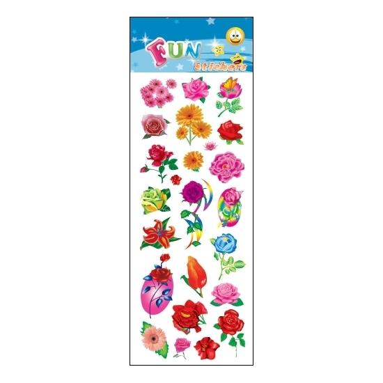 Stickersetje Bloemen Voor Een Agenda