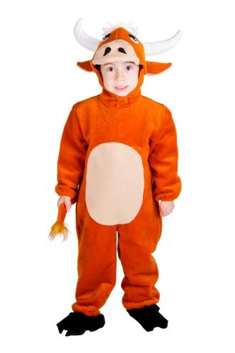 Stier jumpsuit met capuchon voor kids