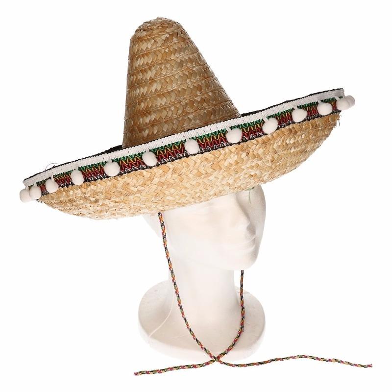 Feest hoeden Stro sombrero 40 cm voor volwassenen