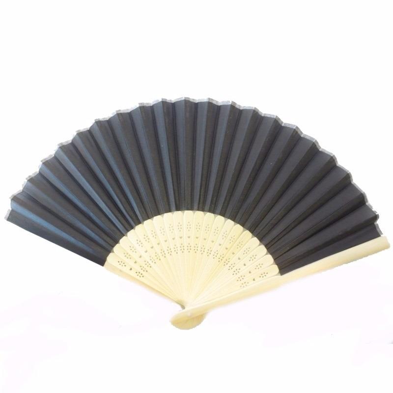Thaise waaier deluxe zwart hout 45 cm
