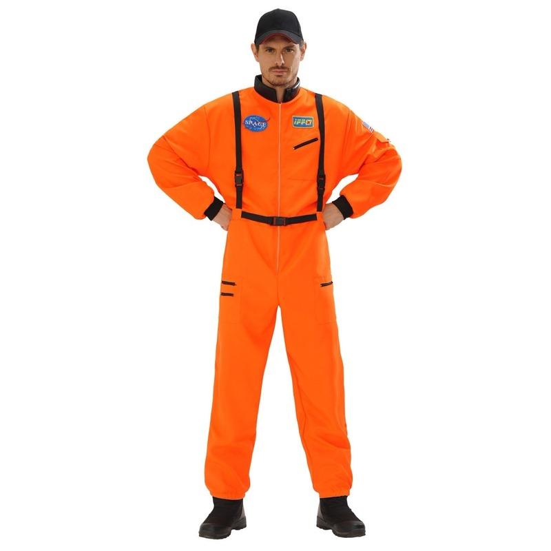 Themafeest Astronauten kostuum oranje voor heren