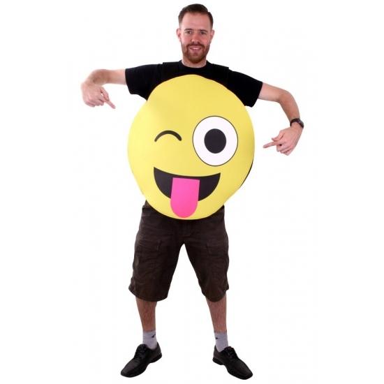 Themafeest Emoticon kostuum knipoog voor volwassenen