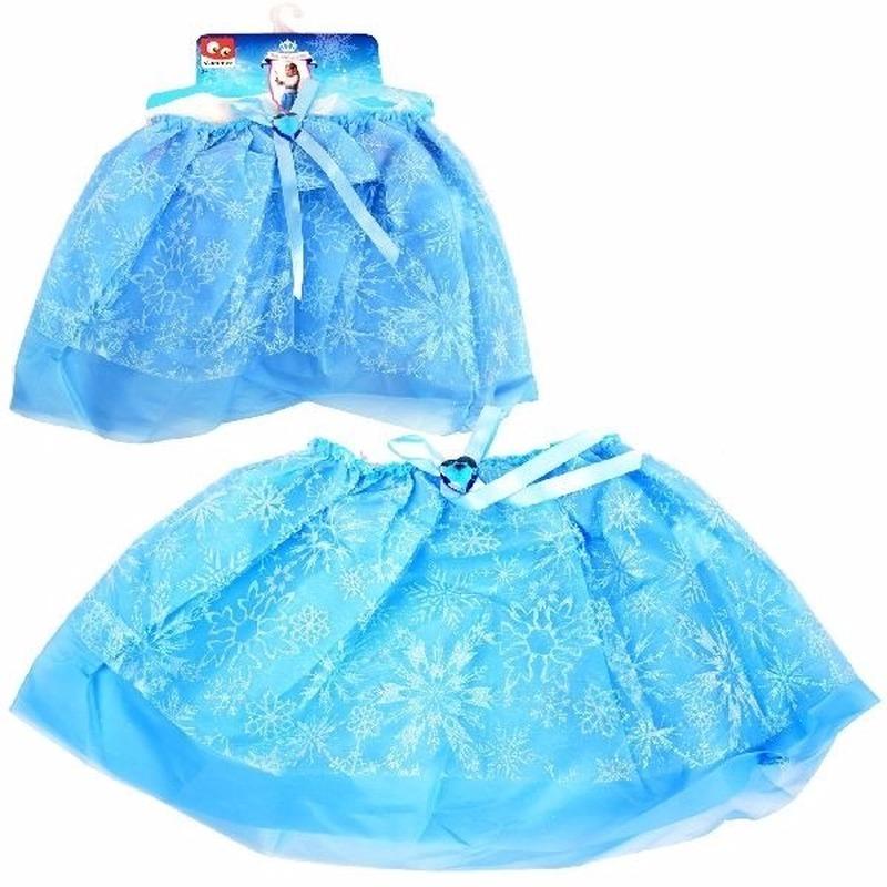 Themafeest IJsprinses petticoat/tutu rokje blauw voor meisjes