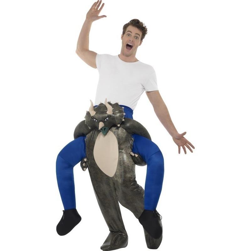 Themafeest Instap dierenpak kostuum dinosaurus voor volwassenen