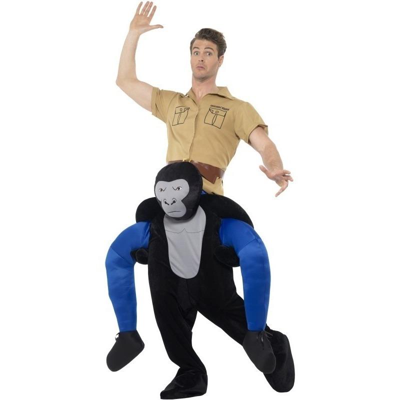 Themafeest Instap dierenpak kostuum gorilla voor volwassenen