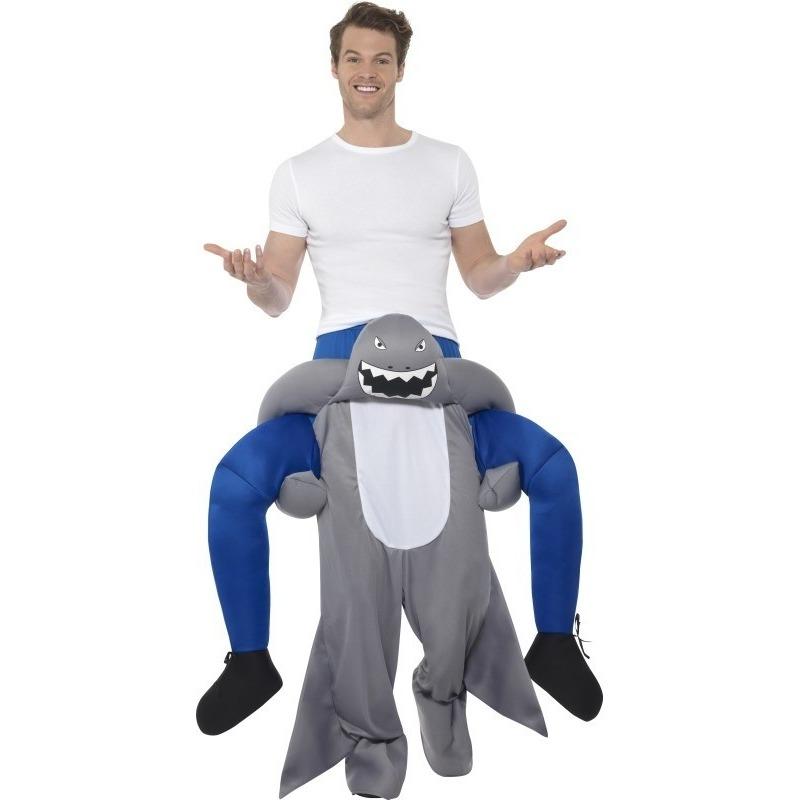 Themafeest Instap dierenpak kostuum haai voor volwassenen