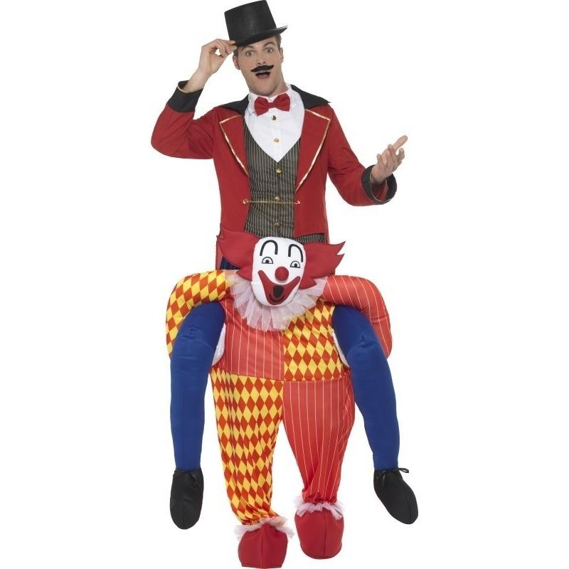 Themafeest Instapkostuum circus clown voor volwassenen