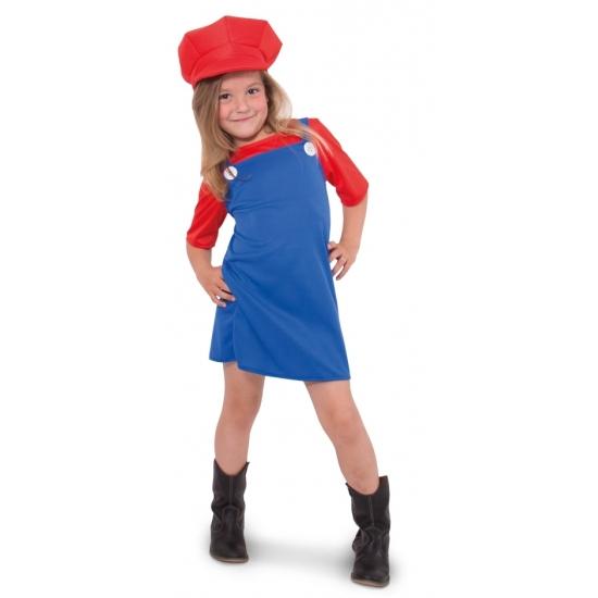 Themafeest Loodgieter jurkje rood voor meisjes