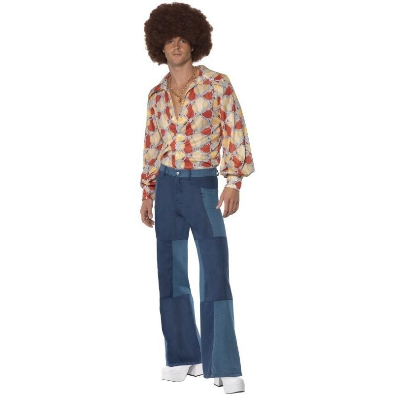 Themafeest Patchwork jaren 70 kostuum voor heren