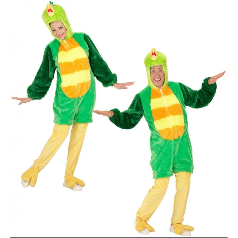 Themafeest Pluche groene vogel kostuum