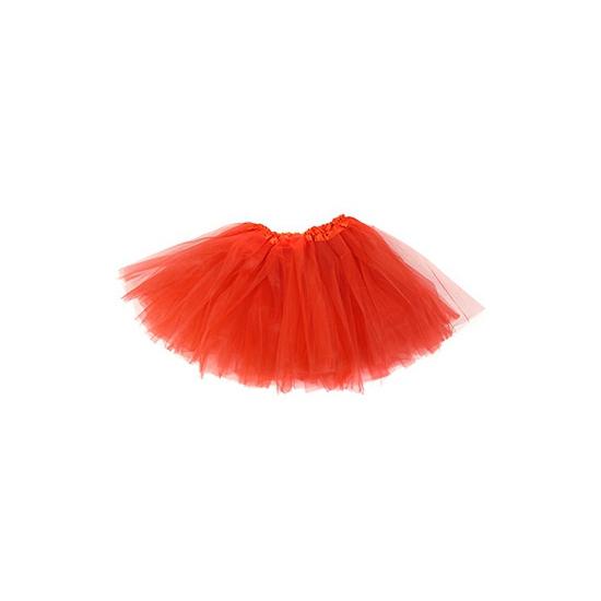 Themafeest Rood petticoat/tutu rokje voor meisjes