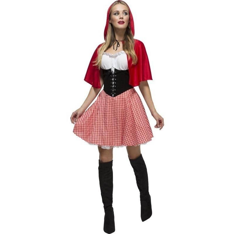 Themafeest Sexy Roodkapje jurkje voor dames