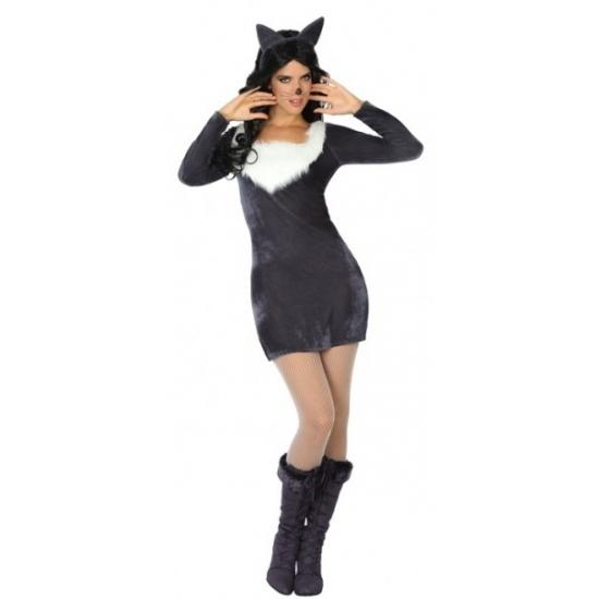 Themafeest Sexy wolf kostuum voor dames