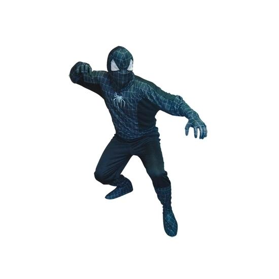 Themafeest Spinnenheld kostuum zwart voor heren