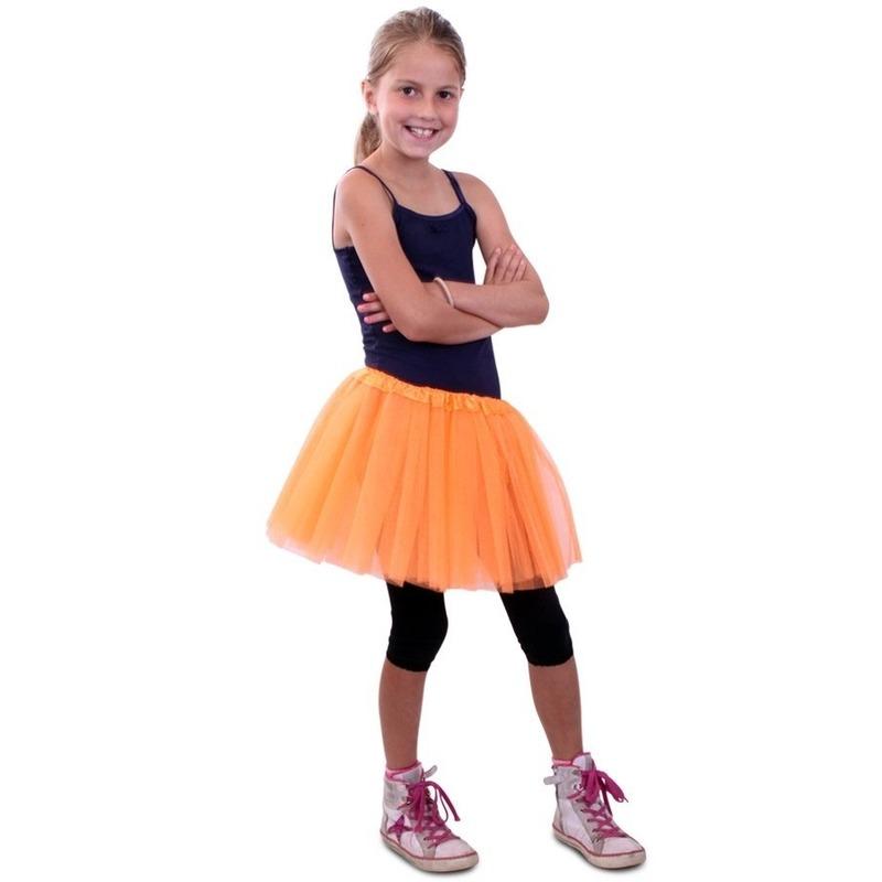 Themafeest Tule rokje voor meisjes oranje