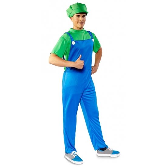 Themafeest Voordelige groene loodgieter kostuum voor heren