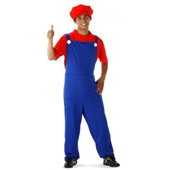 Themafeest Voordelige rode loodgieter kostuum voor heren