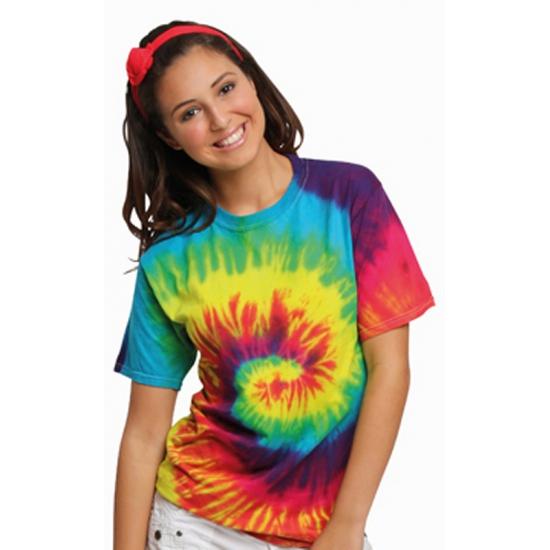 Soorten kostuums Colortone Tie dye t shirt rainbow