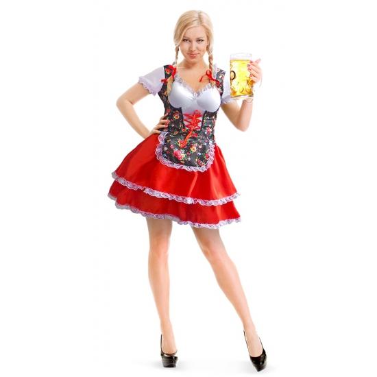 Tiroler jurkje met bloemen voor dames Geen Oktoberfest kostuums