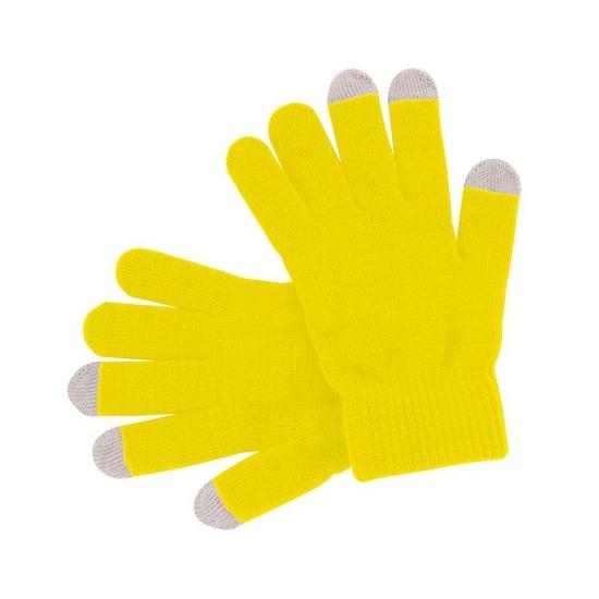 Touchscreen handschoenen geel