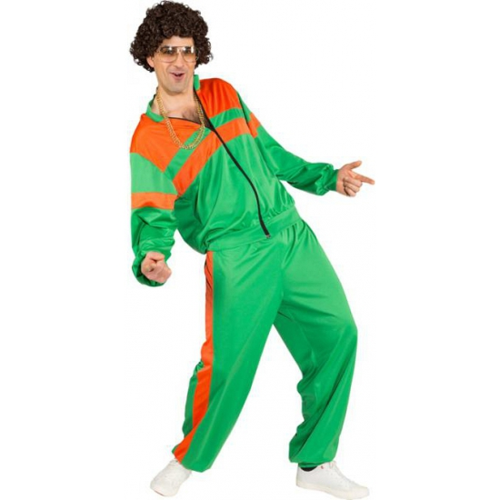 Trainingspak kostuum groen/oranje