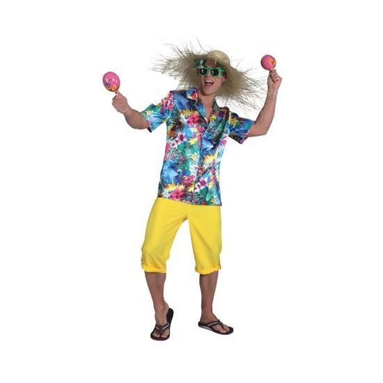 Landen kostuums Geen Tropischa carnavalskleding voor heren