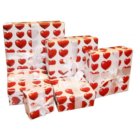 Valentijn decoratie kadootje hartjes 12 cm