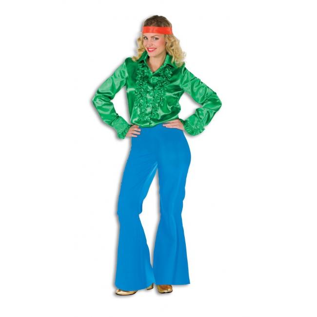 Verkleed broeken blauw voor dames