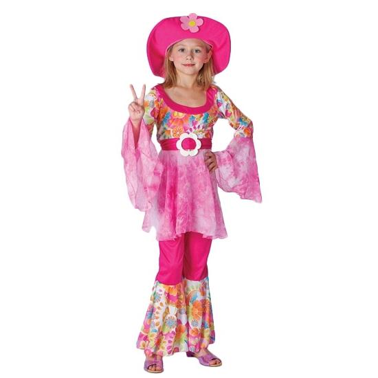 Verkleed hippie kostuum roze voor meiden Carnavalskostuum winkel goedkoop online kopen