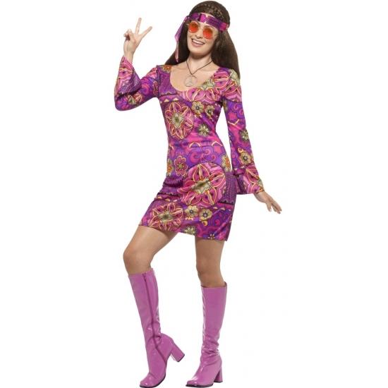 Verkleed sixties hippie dames kostuum