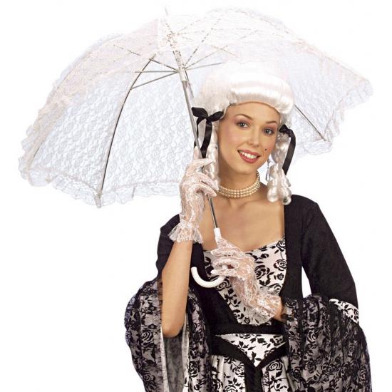 Verkleed Witte kanten paraplu
