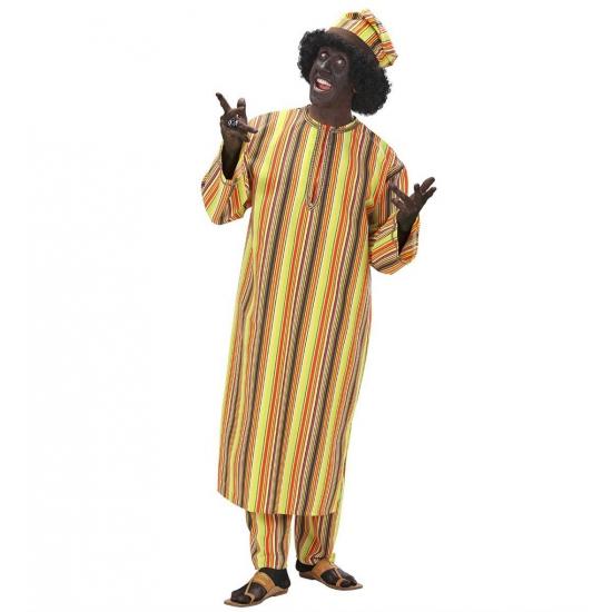 Verkleedkleding Afrikaans heren kostuum