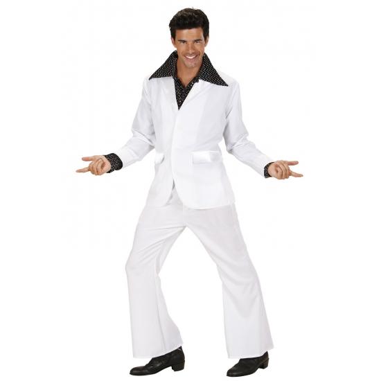 Verkleedkleding disco kostuum wit