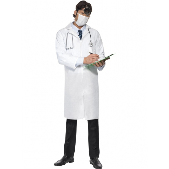 Verkleedkleding Dokters kostuum met mondkapje