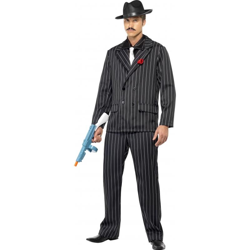 Verkleedkleding Gangster kostuum voor heren