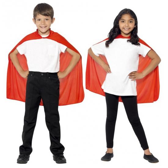 Verkleedkleding rode cape voor kinderen