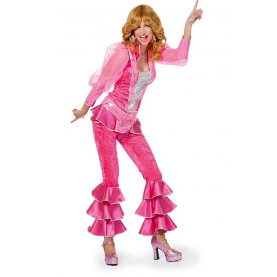 Verkleedkleding Roze disco kostuum voor dames