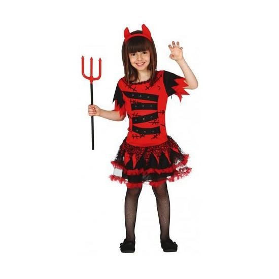 Halloween kostuums Verkleedpak duivel jurkje voor meisjes